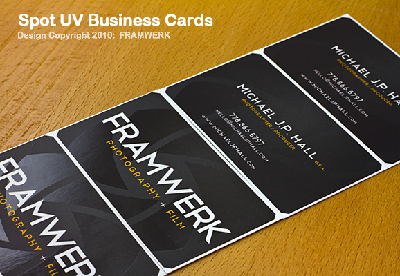 Spot UV Full Colour Premium Business Cards Jukebox Print