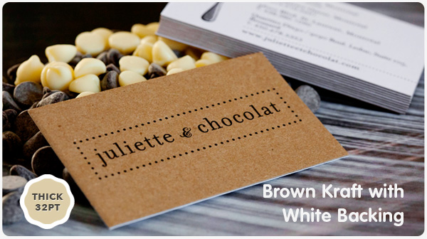 Brown kraft business cards from jukeboxprint reheart Gallery