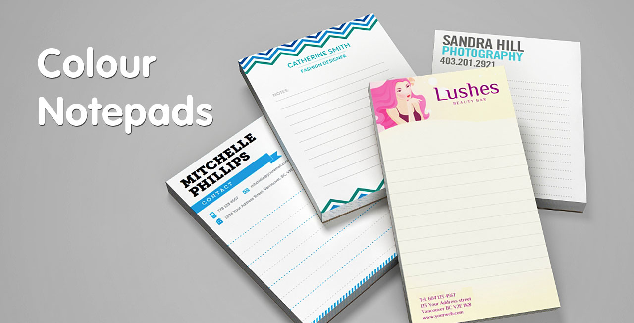 Full colour notepad printing from Jukeboxprint.com