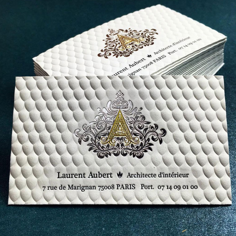 Luxury-3D-Embossed-Business-Card-with-Gold-Foil-Printing ...