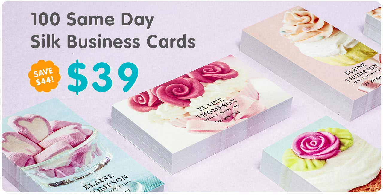 Inspiration for Same day print business cards