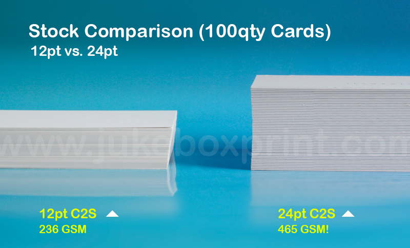 24 pt thick business cards