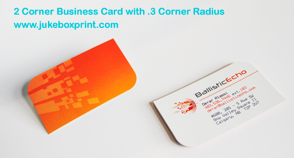 PreMade Shaped Business Cards Corner Corner Corner - Rounded corner business card template