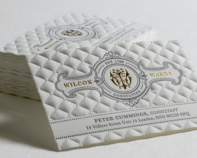 3D Embossed Business Cards - Jukebox Print
