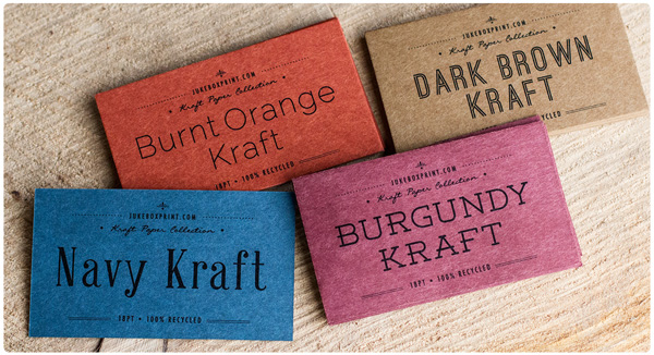 Brown Kraft Business Cards from Jukeboxprint.com