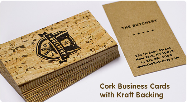 Cork business cards from jukebox print reheart