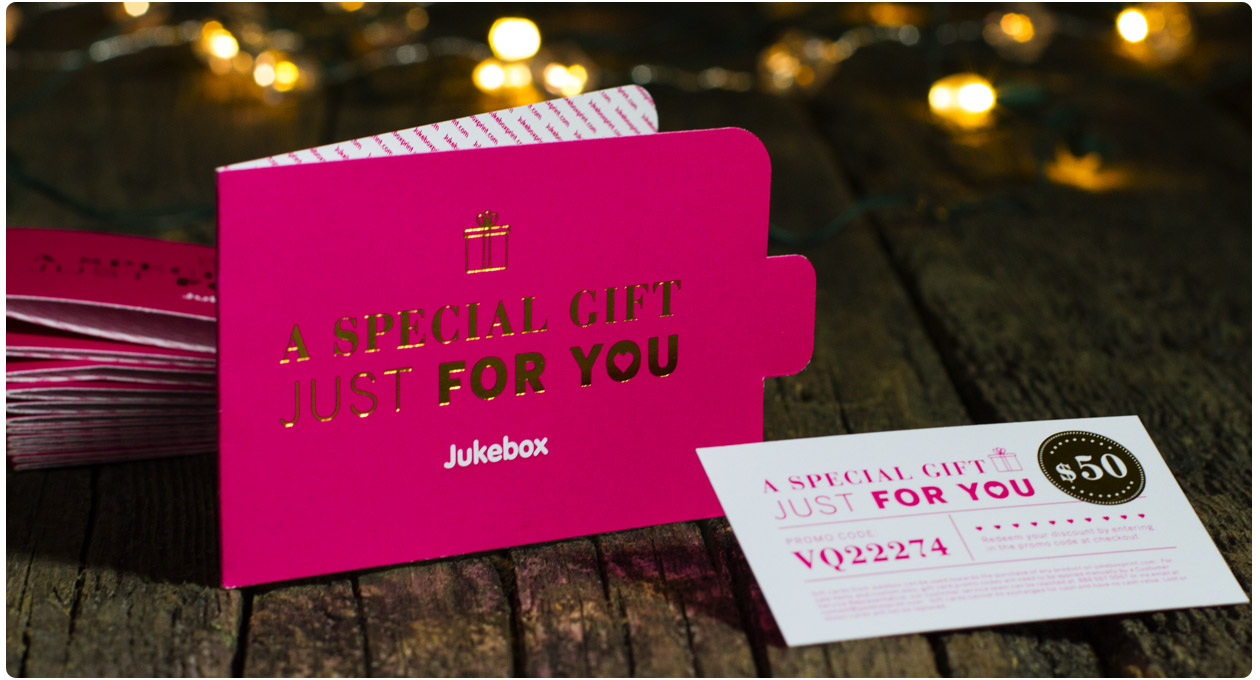 Buy a Gift Card Coupon for Jukeboxprint.com