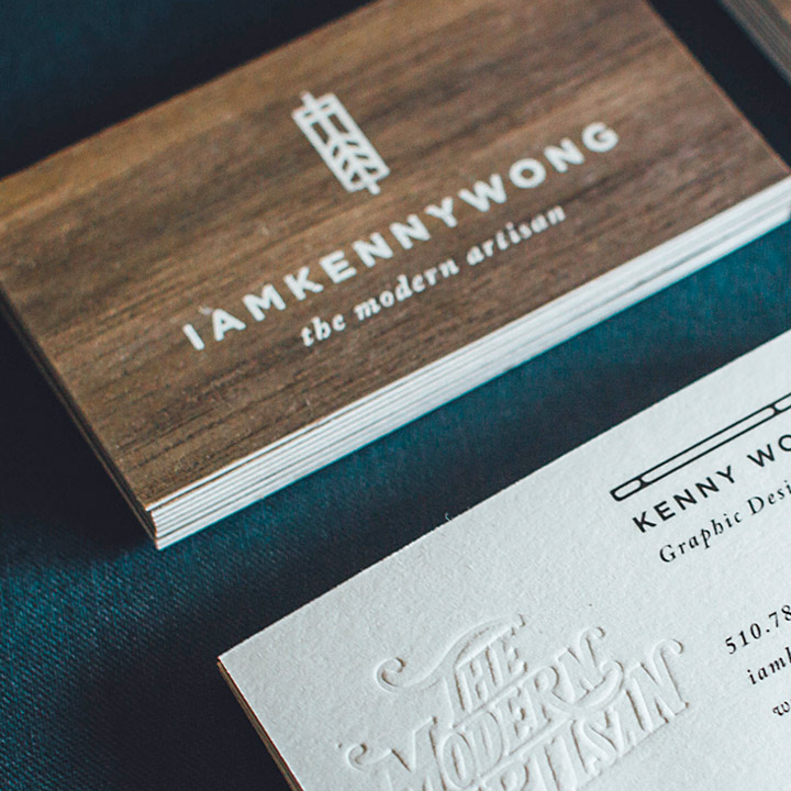 A collection of the best business cards jukebox print inspiration natural walnut wood and off white cotton business cards with silkscreening reheart Gallery