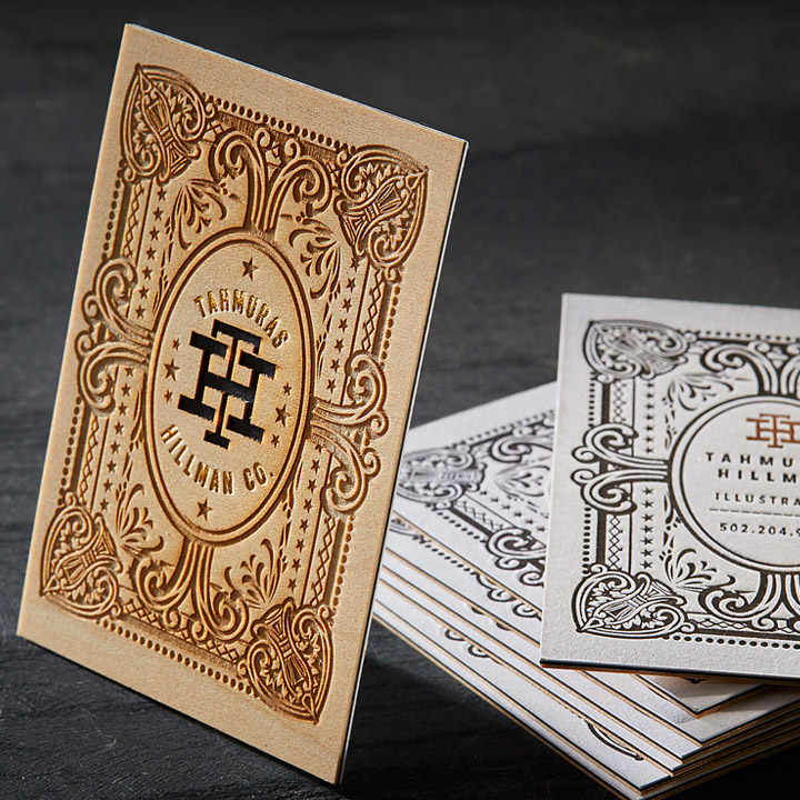 Avery Mini Business Card Pages: Laser Cut Wood Business Cards