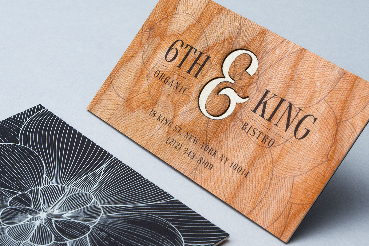 Wooden Business Cards - Printed Wood that looks Natural and Unique