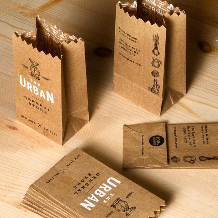 paper bag business card