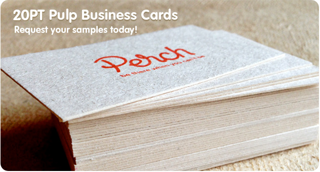 Pulp business cards from jukeboxprint available in 13pt and 20pt reheart