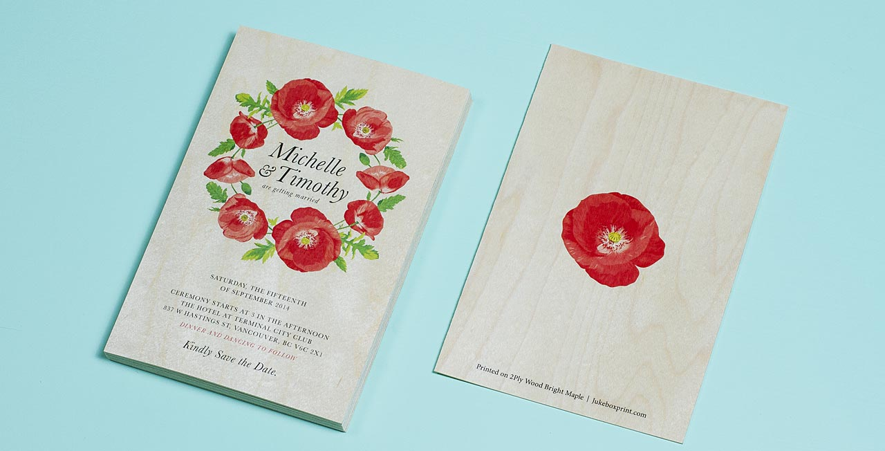 Printed Wedding Invitations: Custom Printed Wedding Invitations